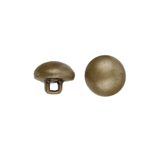 C&C Metal Products Corp 5004 Full Dome Metal Button, Size 40, Colonial Gold Finish, 36-Piece