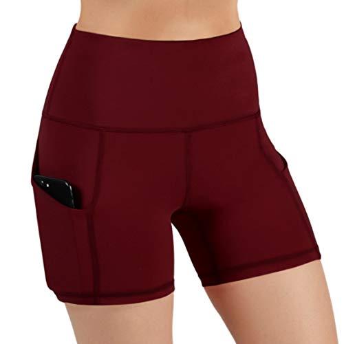 ODODOS High Waist Out Pocket Yoga Short Tummy Control Workout ... 621ae722ede7