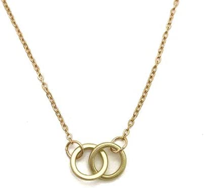 Best Friend Step sister gift Bestie Sister in Law Unbiological sister Card thank you interlocking circle necklace