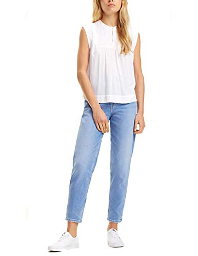 Sleeveless Blanco Para Jeans Tommy Camisa Tjw classic Mujer Blouse 100 nvwExw0Xq