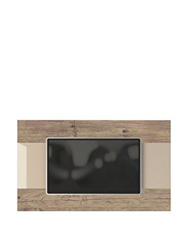 Manhattan Comfort Carnegie TV Panel in Nature and Nude