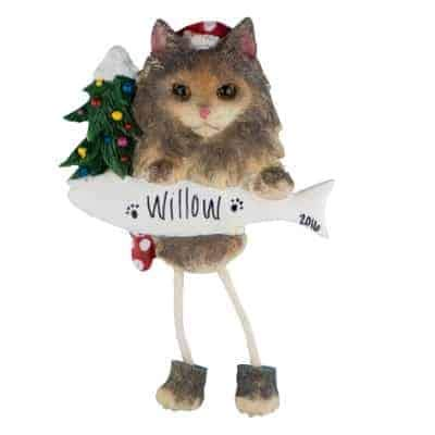Maine Coon Cat Personalized Ornament - (Unique Christmas Tree Ornament - Classic Decor for A Holiday Party - Custom Decorations for Family Kids Baby Military Sports Or Pets)