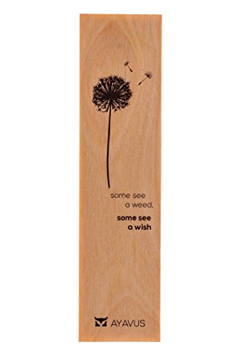 Some See a Weed, Some See a Wish - Dandelion Wood Bookmark Inspirational Quote Wooden Bookmark Quotes Made in USA