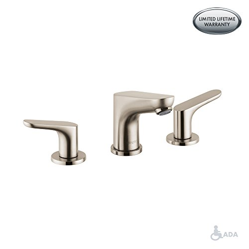Hansgrohe bathroom brushed nickel faucet bathroom brushed nickel hansgrohe faucet Hansgrohe logis loop single hole bathroom faucet