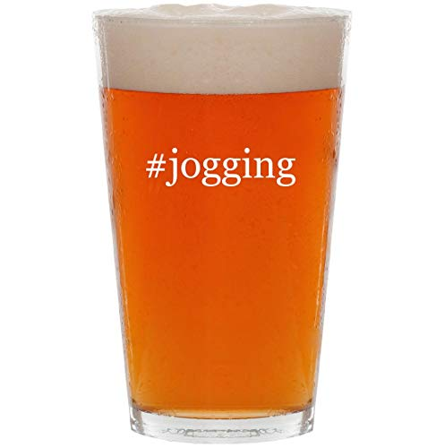 #jogging - 16oz Hashtag Pint Beer Glass