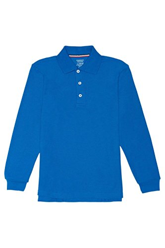 French Toast Little Boys' Long-Sleeve Pique Polo Shirt, Royal, Small/6-7 - Blue Long Sleeve Polo Shirt