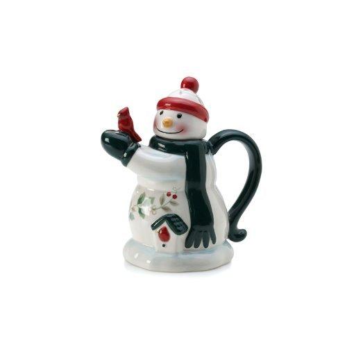 PFALTZGRAFF Winterberry Mini teapot snowman by Pfaltzgraff