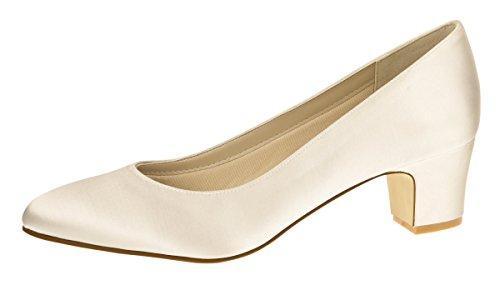Ivory Rainbow Brautschuhe Club Bliss Stephanie Satin qwT0vH
