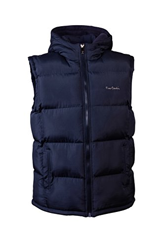 Pierre+Cardin+Mens+New+Season+Padded+Gilet+with+attached+hood+%28XL%2C+Navy%29