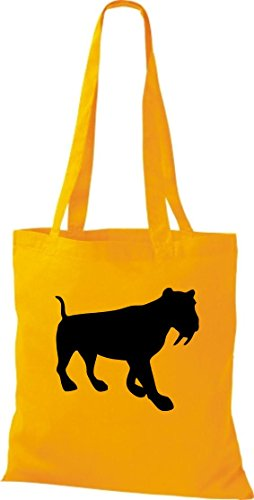 Unbekannt - Bolso de tela de algodón para mujer amarillo