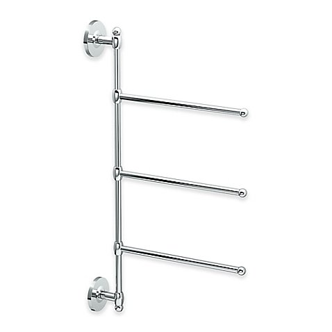 Gatco 3 Arm Wall Mount Towel Bar in Chrome