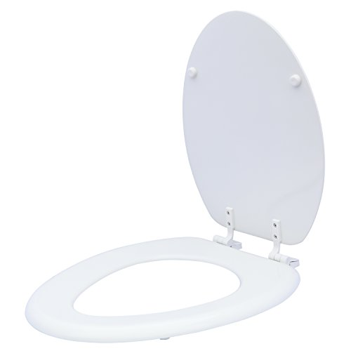 Karlson KS1242-1901-WH Standard Molded Wood Elongated Toilet Seat White by Karlson (Image #5)