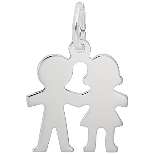 (Rembrandt Charms, Boy and Girl.925 Sterling Silver )