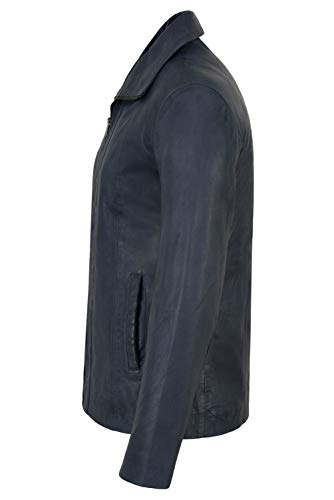 De Blue Cordero Suave Cuero Ajuste Chaqueta Look Clásico Regular Real Piel Sky Para 880 Range Mujer Formal Smart AqUgTvSg