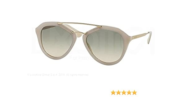 83c7ea06c8fd5 Amazon.com  Prada Cinema Sunglasses PR12QS TKO3H2 Opal Ivory Matte Ivory  Light Brown Grad Light Green 54 18 135  Shoes