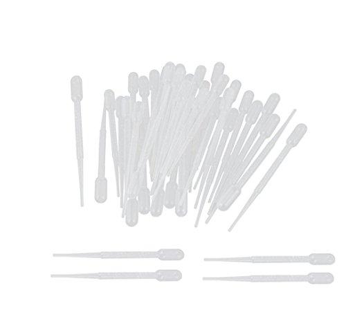 Haobase 100Pcs 3ml Disposable Plastic Graduated Transfer Pipettes