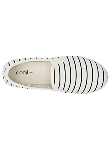 oodji Ultra Mujer Zapatillas Slip On de Tela Estampadas Blanco (1079S)