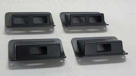 Hummer H1 (HPC Hummer H1 Cast Aluminum Interior Door Window Switch Bezels (Black) Set of 4)