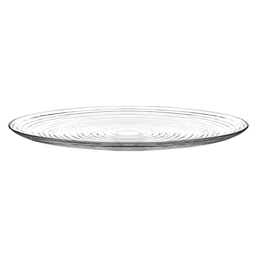 LAV Derin Glass Serving Platter - 34.5cm - Single Display Wedding Centrepiece Table Charger Plate
