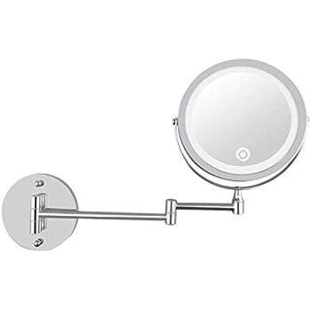 Amazon Com Hgxc Makeup Mirror Folding Wall Mounted Usb
