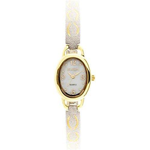 Elgin Gold Watch - Elgin Women's Diamond-Cut Two Tone Bracelet Watch EG9925
