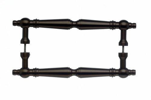 Bronze M805 Top Knobs - Top Knobs M805-8 Pair Asbury Back to Back Door Pull Bronze