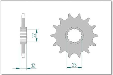 X-Ring super verst/ärkt GAS-GAS 300 EC AFAM Kettensatz
