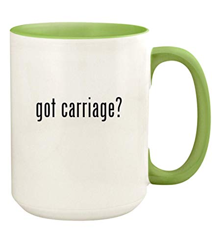 Carriage Boutiques Green - got carriage? - 15oz Ceramic Colored Handle and Inside Coffee Mug Cup, Light Green
