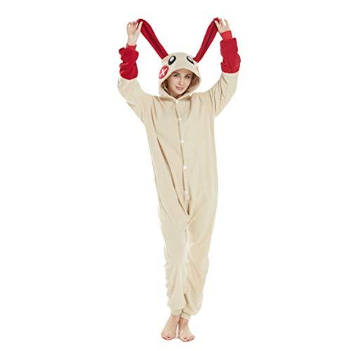 Adult Unisex Animal Cosplay Pajamas Cosplay Onesies Costumes Plus Red Rabbit]()