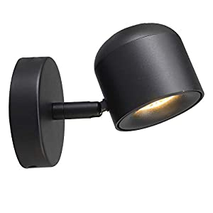 Aisilan Modern Adjustable Surface Mounted Wall lamp Fixture Black LED Warm White Ceiling Spot Accent Light for Hallway Corridor Gallery Display Kitchen and Living Room BD22B7W3000K