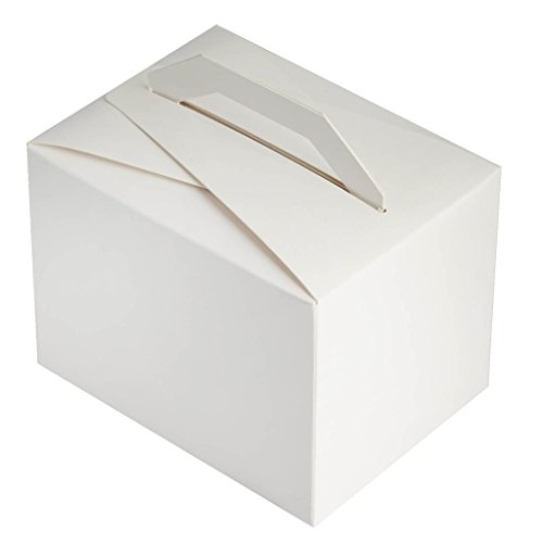 Efavormart 100pcs White Tote Favor Boxes Party Goodie Boxes Treat Box for Wedding Reception/Bridal Shower/Banquet Event