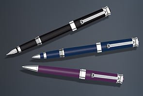 Montegrappa Parola Black Resin with Chrome Trim Rollerball Pen - ISWOTRAB by Montegrappa (Image #1)