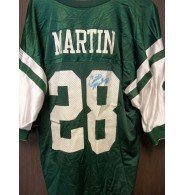 Signed Martin, Curtis (New York Jets) Replica New York Jets Jersey Size XL. (Faded Signature on Jersey) autographed