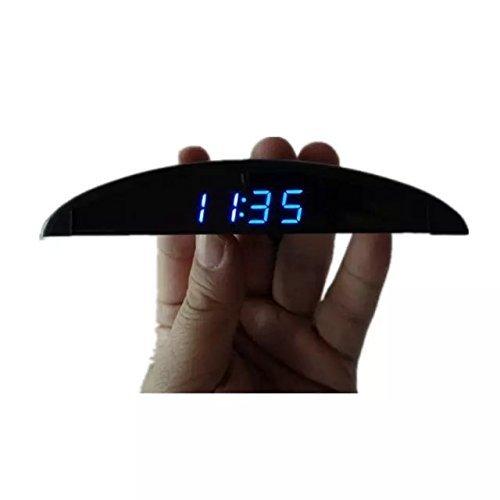 Goliton® Ultra-mince voiture Voltmètre, Compteur de tension Thermomètre, Compteur de température, Horloge électronique embarquée voiture-Noir Compteur de tension Thermomètre Compteur de température CAR.T04.CCL.030.XXB