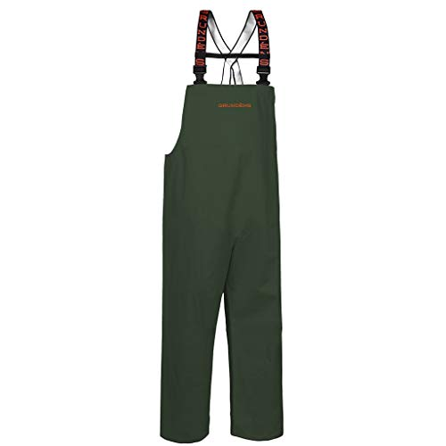 (Grundéns Shoreman Fishing Bib Pants, Green - Small )