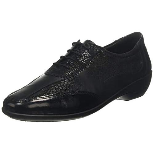 chollos oferta descuentos barato Padders Quartz Zapatos de Cordones Oxford para Mujer Negro Black 38 41 5 EU