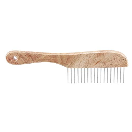 TP Ultimate Coarse Comb 9 1/2'' with Wooden Handle Dog Professsional Grooming Tool by TP