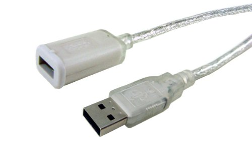 APC 19103CL-10F-1E 10-Feet USB 2.0 Clear USB-A Male USB-B Female Extension Cable