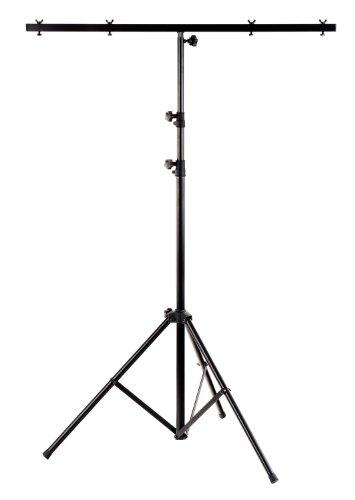 Showlite LS250 Lichtstativ mit Quertraverse (für Bühnen & Konzerbeleuchtung, für bis zu 4 Scheinwerfer, 1,10m-2,50m, max. Traglast: 30 kg)