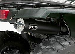 400 Exhaust (DG Performance 051-4765 - RCM II Slip-On with Spark Arrestor - Black fits Yamaha Kodiak 400 (2000 - 2002))