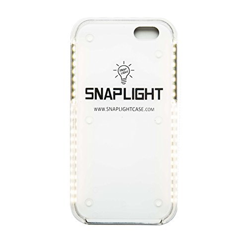 SnapLight iPhone 6/6S Plus Light Up Selfie Case with Power Bank - LED Light and Strobe light Features, Perfect for Facetime or Night Life Selfies (Rose Gold) by SnapLight