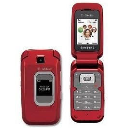 Compact Triband Cell Phone - Samsung T229 Unlocked Phone with Tri-Band GSM, Camera and Bluetooth (Red)