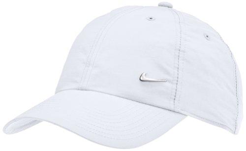 Nike Men's Cap - White/Silver Size One