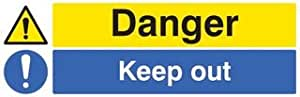 SIGN, DANGER KEEP OUT, SAV 26216G By Best Price Square