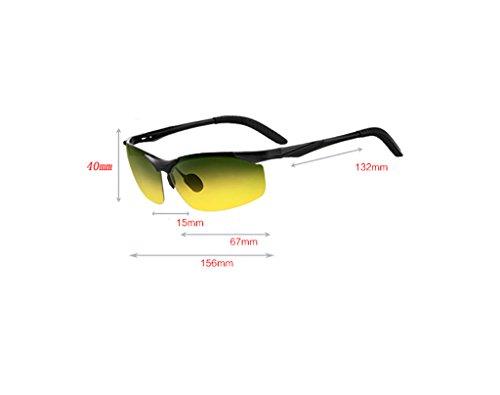 Unisex B Yxsd Marco de A Polarizadas Mate Hinge SunglassesMAN Color 400 UV de Protección Spring Gafas Sol Lente daqw4X8XR