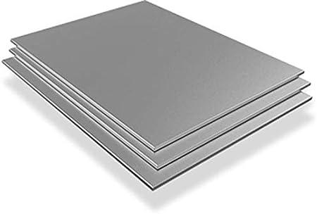 Chapa de acero inoxidable 0,8 mm V2A 1.4301 placa corte 100 mm hasta 2000 mm Blech