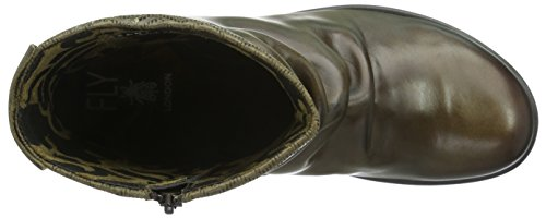Fly London Melb687fly - Botas Cortas Mujer Verde (Olive 006)