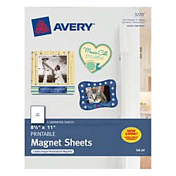 Avery Magnet Sheets - 8.5 x 11 Inches - White (03270)