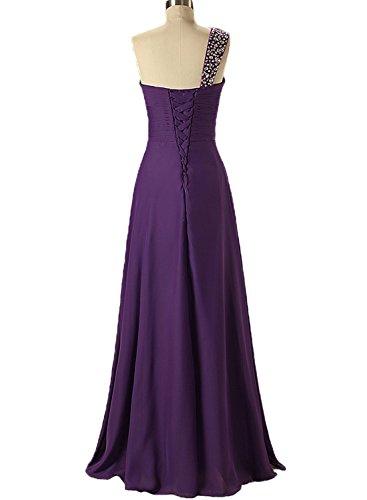 cristalli Ora Bridesmaid Forever spalle Purple vestito amp; con WqaFfcqZz
