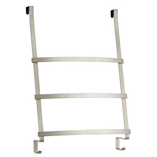 InterDesign Gia Over the Door Towel Rack with 3 Bars for Bathroom - Satin by InterDesign